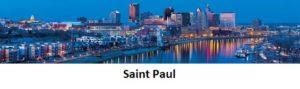 Saint Paul Minnesota Skyline